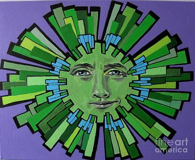 Painting - Hugh Grant - Sun by Grace Liberator