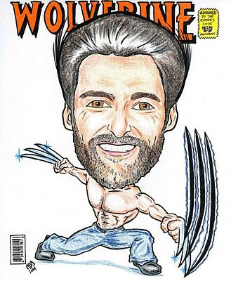 Hugh Jackman - Wolverine Art Print by Michael Dijamco
