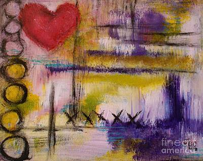 Painting - Hugs And Kisses by Jane Chesnut