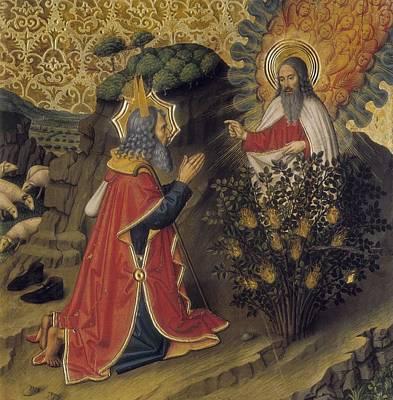 Burning Bush Photograph - Huguet, Jaume 1415-1492. Moses by Everett