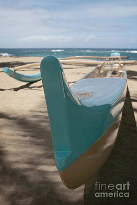 Handcrafted Digital Art - hui o waa Kuau Outrigger Canoe Paia by Sharon Mau