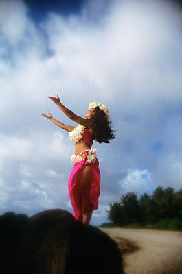 Hula Dancer Hawaii Art Print