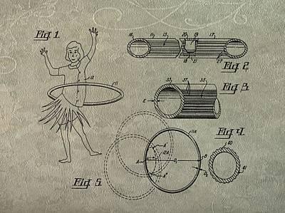 Hula Hoop Patent Art Art Print by Dan Sproul