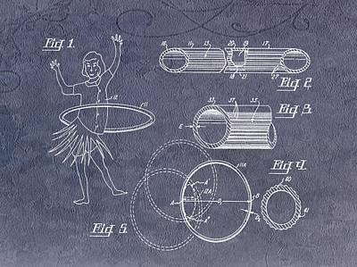 Hula Hoop Patent Art Print by Dan Sproul