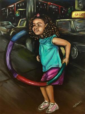 Painting - Hula Hoopin' by Ka-Son Reeves