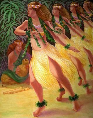 Painting - Hula Kahiko by Jack Adams