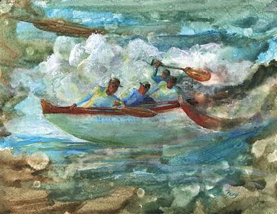 Outrigger Painting - Hula Kai by Lisa Bunge