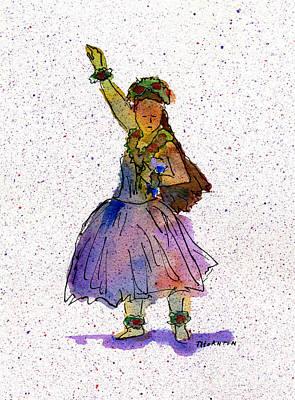Painting - Hula Series Konani by Diane Thornton