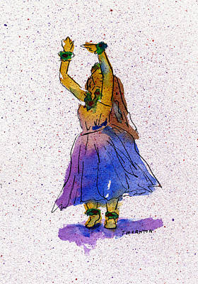 Painting - Hula Series Melika by Diane Thornton