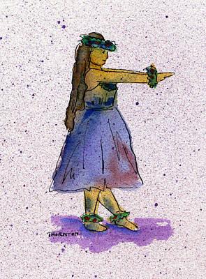 Painting - Hula Series Nakine by Diane Thornton