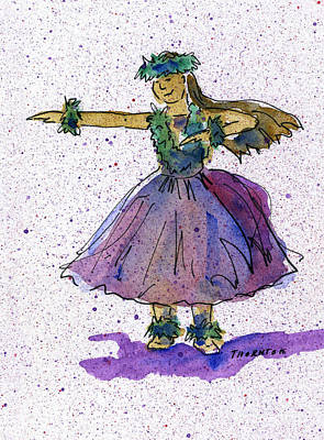Painting - Hula Series Olina by Diane Thornton