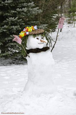 Hula Winter Snow Queen Art Print