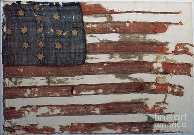 Photograph - Hulbert Flag Early Us Flag 1776 by Photo Researchers