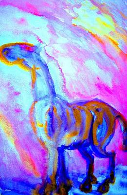 Amble Painting - Is This Really Your Best Horse by Hilde Widerberg