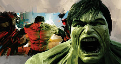 Movie Art Mixed Media - Hulk Artwork by Sheraz A