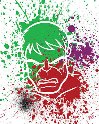 Hulk Goes Splat Art Print by Decorative Arts