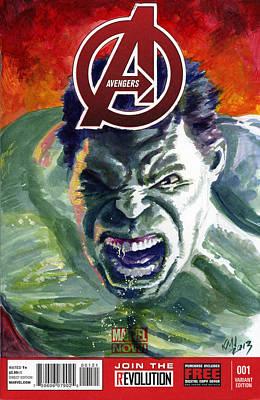 Hulk Painting - Hulk by Ken Meyer jr