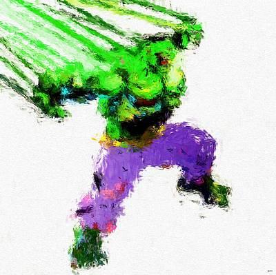 Hulk Painting Art Print by Daniel Janda