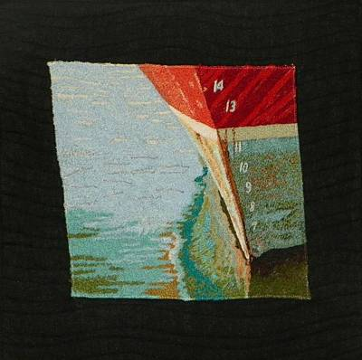 Tapestry - Textile - Waterline by Jenny Williams