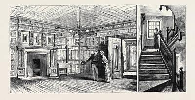 Plotting Drawing - Hull The White Hart Inn The Plotting Chamber Left by English School