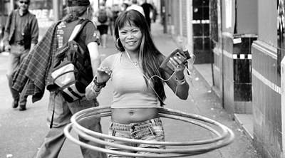 Photograph - Hulla Hoop Girl by Douglas Pike