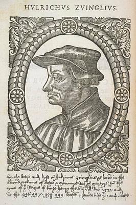 Hulrichus Zuinglius Art Print by British Library