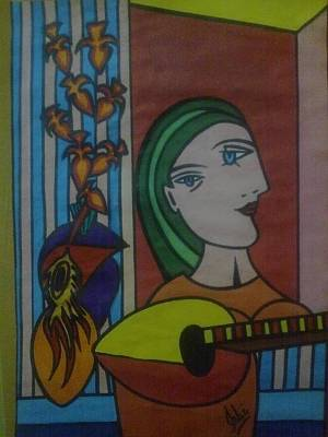 Syeda Ishrat Drawing - Humage To Picaso by Syeda Ishrat