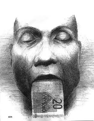 Betlej Drawing - Human Atm by Piotr Betlej