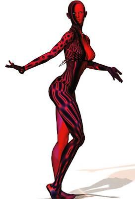 Digital Art - Human Fractal -  Jess by Nancy Pauling