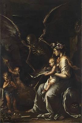 Obelisk Painting - Human Frailty, C.1656 by Salvator Rosa