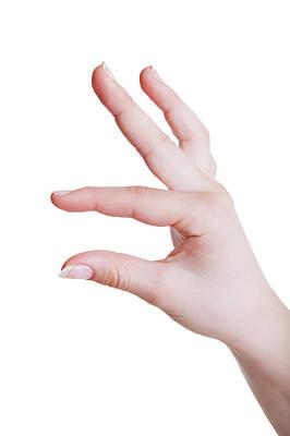 Human Hand In A Measuring Gesture Art Print