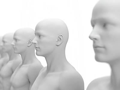 Repetition Photograph - Human Models In A Row by Sebastian Kaulitzki