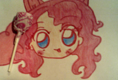 My Little Pony Drawing - Human Pinkie Pie by Dianna Rochelle