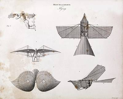 Human-powered Flight Art Print by Middle Temple Library