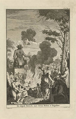 Human Sacrifice To The Idol Moloch, Jan Lamsvelt Print by Quint Lox