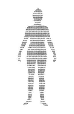 Human With Binary Code Print by Victor De Schwanberg