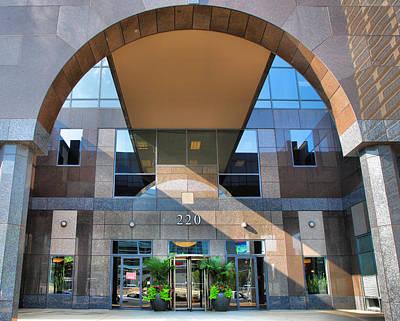 Entrance Door Photograph - Humana Building II by Steven Ainsworth
