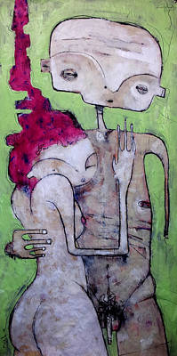 Primitive Art Painting - Humanitas No. 10  by Mark M  Mellon