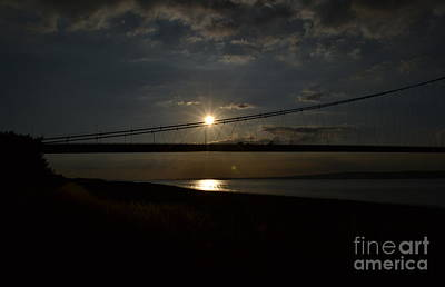 Photograph - Humber Bridge Sunset by Scott Lyons