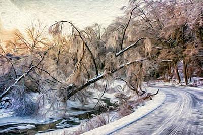 Humber River Road - Paint Art Print by Steve Harrington