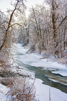 Metal Photograph - Humber River Winter by Steve Harrington