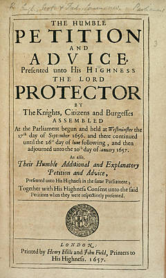 Cromwell Photograph - Humble Petition by British Library
