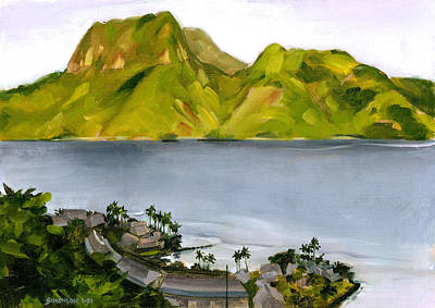Samoan Painting - Humid Day In Pago Pago by Douglas Simonson