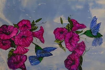 Humingbird Heaven Art Print by Linda Brown