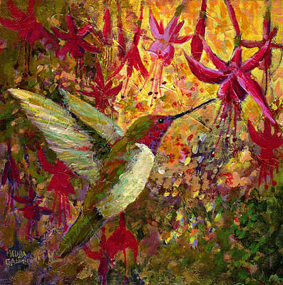 Painting - Hummer Dazzle by Melissa Gannon