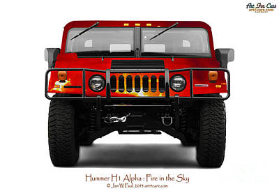 Photograph - Hummer H1 Fire In The Sky by Art Faul