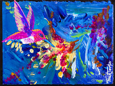 Painting - Hummer's Explosion by Tracy L Teeter