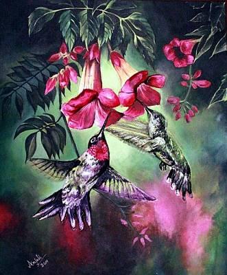 Ceramic Mixed Media - Humming Bird by Anjali Nambiar