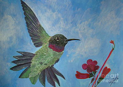 Wall Art - Painting - Humming-bird by Cybele Chaves