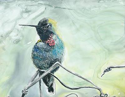 Humming Bird Art Print by Donna Turbyfill